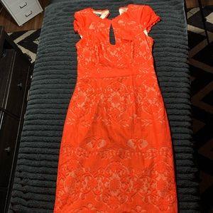BEBE Orange Short Sleeve Dress